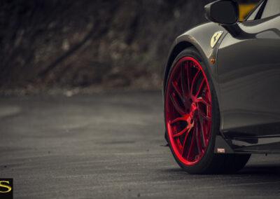 Ferrari-458-Italia-Savini-Wheels-Savini-Forged-SV62C-Brushed-Red-Black-10
